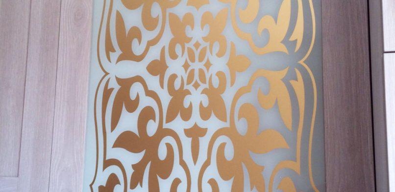 Покраска на стекле №22